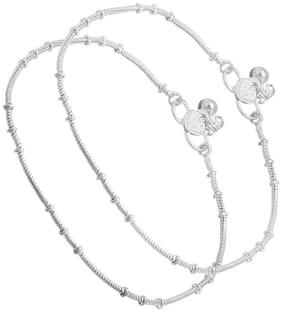 Yuvaan Crystal Silver Anchor Chain