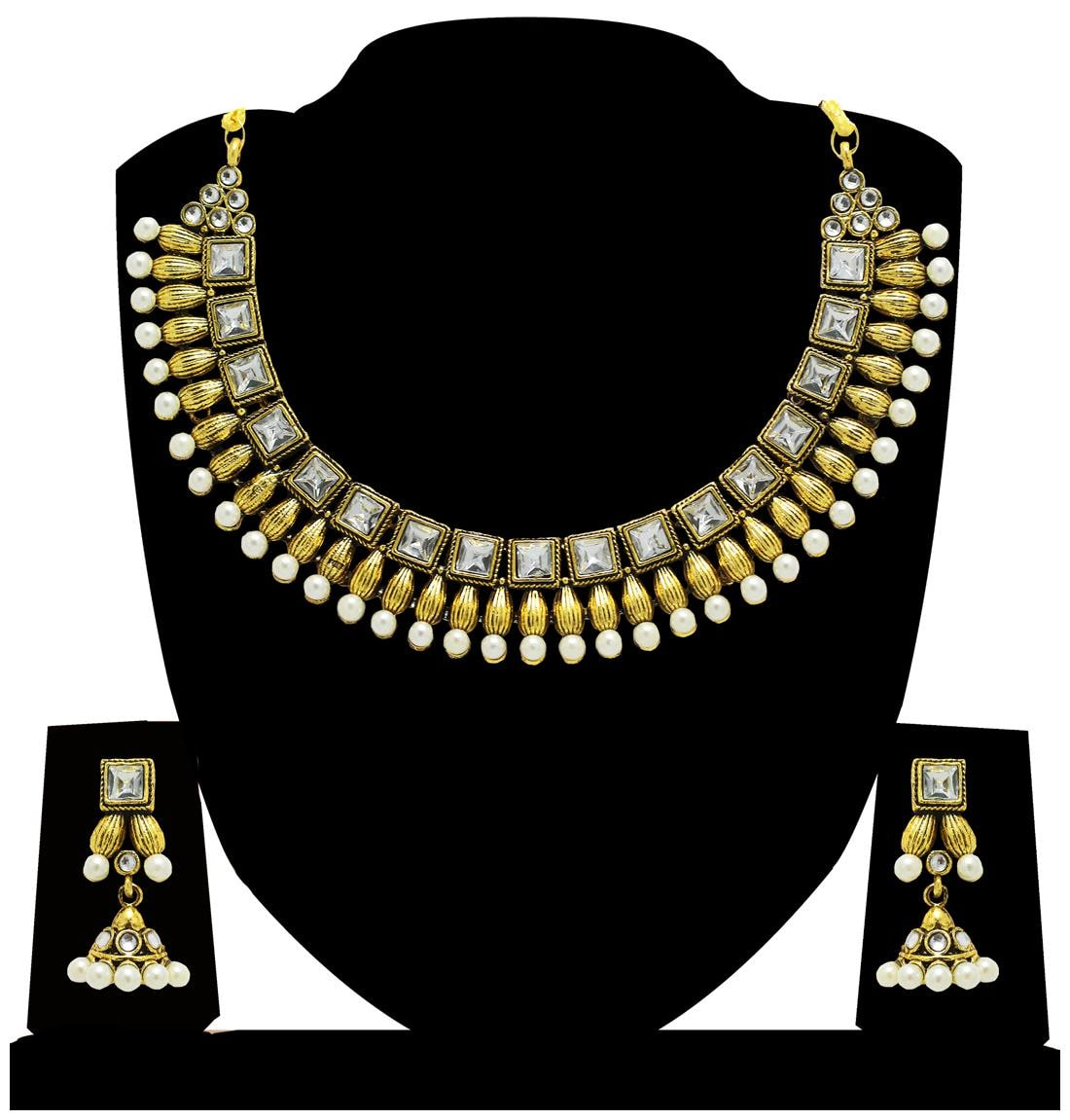 Red Pink Beaded Bib Egyptian Massive Pearl Necklace Huge Statement Armor Collar