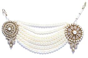 Zaveri Pearls White Zinc Maang Tikka