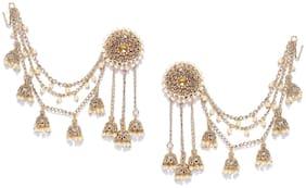 Zaveri Pearls Bollywood Inspired Kundan Jhumki Drops Earring-ZPFK6643