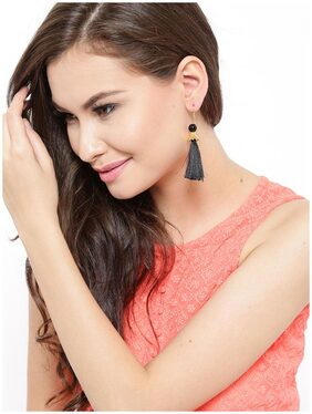Zaveri Pearls Combo of 4 Tassel Drop Earrings-ZPFK6428