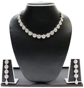 Zaveri Pearls Silver Zinc Necklaces Set