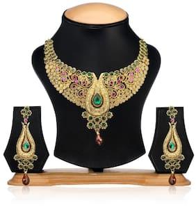 Zaveri Pearls Purple Necklace Set