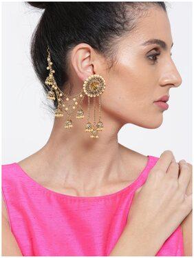 Zaveri Pearls Bollywood Inspired Kundan Jhumki Drops Earring-ZPFK6642
