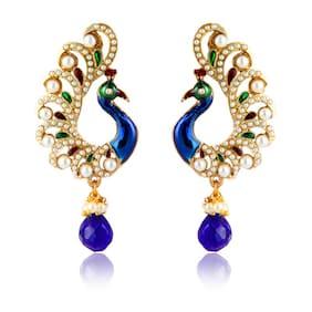 Zaveri Pearls Multi Zinc Earrings