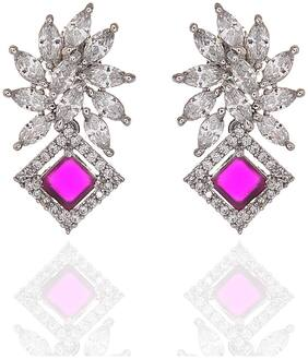 Zcarina American Diamond Earring for Women