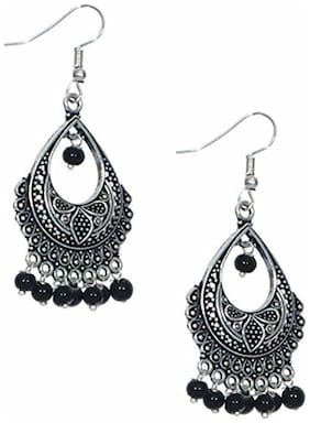 Zcarina Black Color Jhumki Jhumka Earring Set for Women & Girls