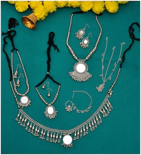 Zcarina Collection Of Navratri Jewellery Full Set For Women