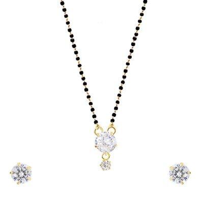 Indian Single Ad American Diamond Fashion Jewelry Mangalsutra Bolllywood Set M-3 Jewelry & Watches