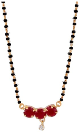 Zcarina Gold Plated Mangalsutra for Women