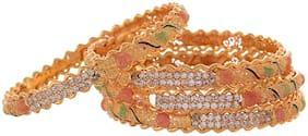 Gold Brass Bangle