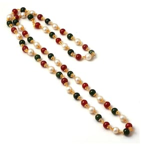 Zcarina Gold Plated Multi-Color Neck Chain for Women and Girls