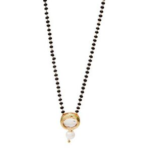 Zcarina Gold Plated Kundan Style Mangalsutra for Women