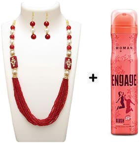 Zcarina Neckalce Set Free Engage Deo Perfume For Girls And Women