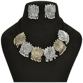 Alloy Silver;Gold Afghan Necklace Set