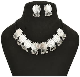 Alloy Silver Afghan Necklace Set
