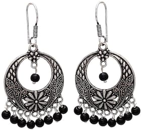 Zcarina Pretty Look German Silver Jhumki For Women