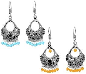 Zcarina German silver Dangle earring - Set of 2