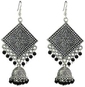 Zcarina Silver Plated Jhumki Earring for Women and Girls