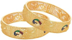 Zcarina Traditional Jewellery Gold Plated Bangles for Women