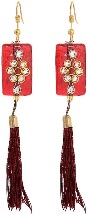 Tasselled Thread Drop Earring