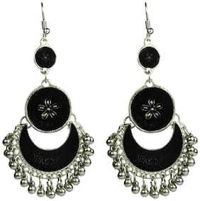 Zcarina Tribal Collection Designer Fusion Moonshape Chandbali earrings for girls stylish hanging womens earrings
