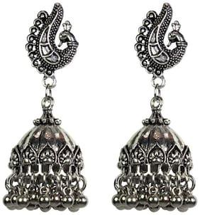 Zcarina Tribal Collection Designer Fusion Jhumka Jhumki earrings for girls stylish hanging womens earrings