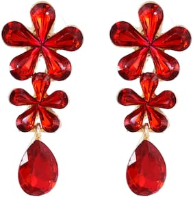 Zcarina Western style Stone Earrings for Girls and Women