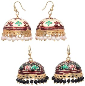 Zcarina Women Fashion Jewellery Antique Jhumki Earring for Girls & Women