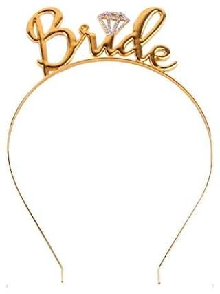Ziory Gold Plated Crystal Team Bride Bridesmaid Tiara Crown Princess  Headband Bachelorette Hen Party  Bride 87f0b5b12ca1