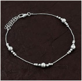 Zivom Balls Stylish Indo Western Dainty Delicate Charms Single Leg Anklet For Women&Girls