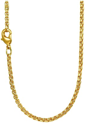 Stainless Steel Gold Antique Chain