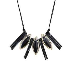 Zooniv Black Necklace for Women & Girls