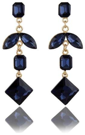 Zooniv Blue Party wear Long Earrings for Women & Girls