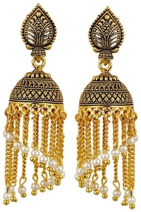 Zooniv Gold Plated Jhumki Fancy Party Wear Earrings for Women and Girls