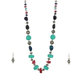 Zooniv Multi-Color Necklace Jewellery Set for Women & Girls
