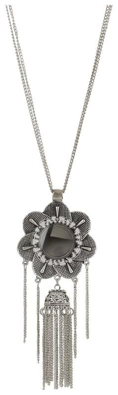 Zooniv Oxidised Silver Plated Afghani Pendant Necklace for Women and Girls