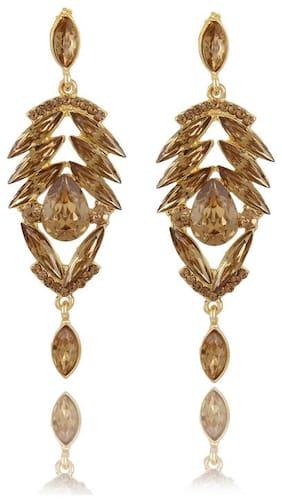 Zooniv Stylish Fancy Party Wear Gold Plated Earrings for Women & Girls