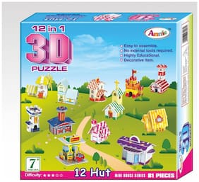Annie 12-In-1 (Mini House Series) 3D Puzzle