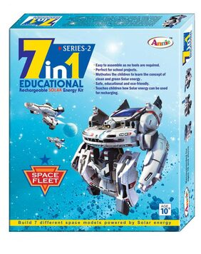 Annie 7 In 1 Rechargeable Solar Energy Educational Kit Series- 2
