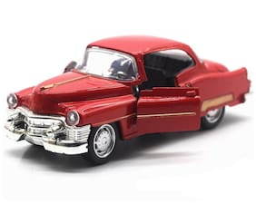 1:36 Metal Pull Back Vintage Car with Light and Music