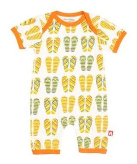 Nino Bambino Baby boy Cotton Printed Romper - Multi