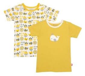 Nino Bambino Baby Boy Cotton Solid T Shirt Top - Yellow
