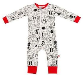Nino Bambino Baby boy Cotton Printed Winterwear onesie and romper - Multi