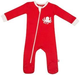 Nino Bambino Baby girl Cotton Solid Winterwear onesie and romper - Multi