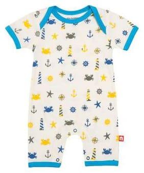 Nino Bambino Baby boy Cotton Printed Romper - Multi
