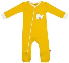 Nino Bambino Baby boy Cotton Solid Winterwear onesie and romper - Multi