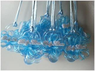 12 Blue Pacifier Necklaces Baby Shower Games Favors it's a Boy Prizes Decoration
