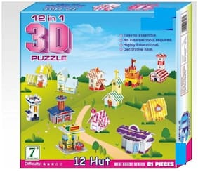 12-in-1 3D Puzzle Game (81 Pieces)