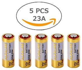 12V Alkaline Battery 23A  High Voltage Cell Car Remote Battery - Pack Of 5